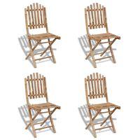 vidaXL Sulankstomos sodo kėdės, 2 vnt., bambukas