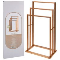 Bathroom Solutions Bambuko rankšluosčių kabykla su 3 strypais