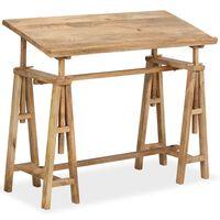 vidaXL Braižybos stalas, masyvi mango mediena, 116x50x76cm