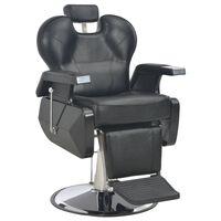 vidaXL Kirpėjo kėdė, juoda, 72x68x98 cm, dirbtinė oda