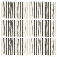 vidaXL Stalo kilimėliai, 6vnt., antracito+baltos sp, 30x45cm, medvilnė