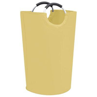 vidaXL Skalbinių rūšiavimo krepšys, kreminės spalvos