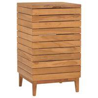 vidaXL Skalbinių krepšys, 40x40x70cm, tikmedžio medienos masyvas