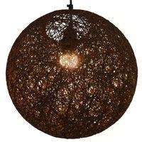 vidaXL Pakabinamas šviestuvas, rudos sp., sferinis, 35cm, E27 lemp.