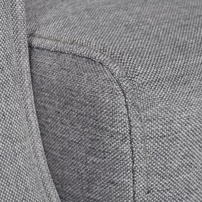 vidaXL Krėslas, pilkas, audinys