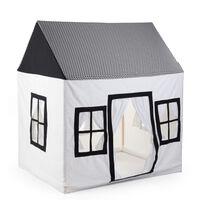 CHILDHOME Žaidimų namelis, baltas ir juodas, 125x95x145cm, drobė