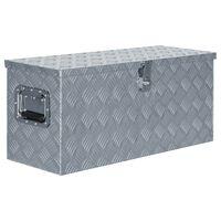 vidaXL Aliuminio dėžė, 80x30x35cm, sidabrinė
