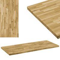 vidaXL Stalviršis, ąžuolo mediena, stač. form., 44mm, 100x60cm
