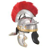 vidaXL Romėnų kario šalmas, sidabrinis, plienas, antikvarinė kopija