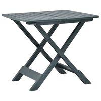 vidaXL Sulankstomas sodo stalas, žalios spalvos, 79x72x70cm, plastikas
