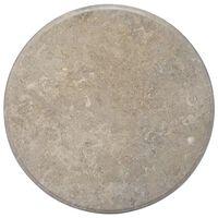 vidaXL Stalviršis, pilkos spalvos, skersmuo 70x2,5cm, marmuras