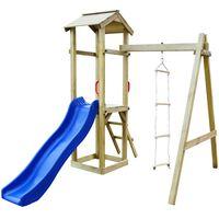 vidaXL Vaikų žaidimų aikštelė, 237x168x218cm, mediena