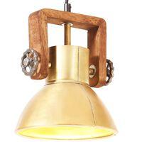 vidaXL Pakabinamas šviestuvas, žalvario, 19cm, 25W, apskritas, E27