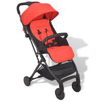 vidaXL Vaikiškas vežimėlis, raudonas, 89x47,5x104 cm