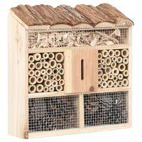 vidaXL Vabzdžių viešbutis, 30x10x30cm, eglės mediena