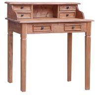 vidaXL Rašomasis stalas su stalčiais, 90x50x101cm, medienos masyvas
