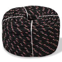 vidaXL Jūrinė virvė, juoda, 250m, polipropilenas, 16mm
