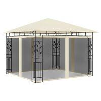vidaXL Pavėsinė su tinkleliu nuo uodų, kreminė, 3x3x2,73m, 180g/m²