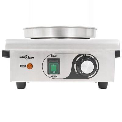 vidaXL Dešrainių šildytuvas, nerūdijantis plienas, 450W