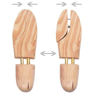 vidaXL Kurpaliai, 2 poros, pušies medienos masyvas, 40-41 dydžio
