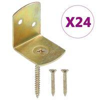 vidaXL Tvoros segmento laikikliai, 24vnt., galvanizuotas metalas