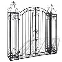 vidaXL Sodo vartai, ornamentuoti, apdirbta geležis, 122x20,5x134cm