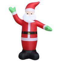 vidaXL Pripučiamas Kalėdų Senelis, LED, IP44, 600 cm, XXL