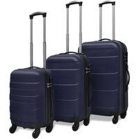 vidaXL Kietų lagaminų su ratukais komplektas, mėlynos spalvos