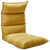 vidaXL Sulankstomas čiužinukas-kėdė, garstyčių geltonas, audinys
