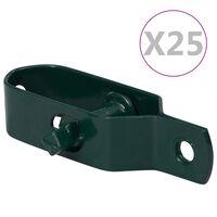 vidaXL Tvoros vielos įtempikliai, 25vnt., žali, plienas, 90mm