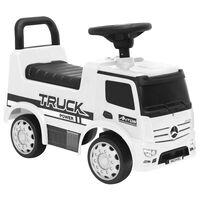 vidaXL Paspiriamas vaikiškas sunkvežimis Mercedes-Benz, baltas