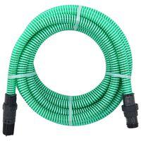 vidaXL Siurbimo žarna su PVC jungtimis, žalios spalvos, 4m, 22mm
