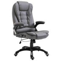 vidaXL Biuro kėdė, antracito spalvos, dirbtinė oda