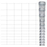 vidaXL Sodo tvora, sidabrinės spalvos, 50x1,6m, galvanizuotas plienas