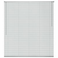vidaXL Žaliuzės, aliuminis, 120 x 130 cm, sidabro spalvos