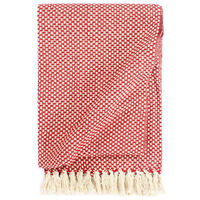 vidaXL Pledas, raudonos spalvos, 125x150cm, medvilnė