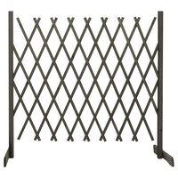 vidaXL Sodo treliažas-tvora, pilkos spalvos, 180x100cm, eglės masyvas