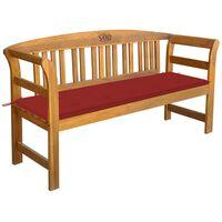 vidaXL Sodo suoliukas su pagalvėle, 157cm, akacijos medienos masyvas