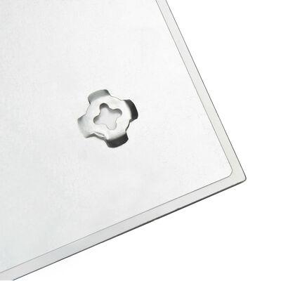 vidaXL Prie sienos montuojama magnetinė lenta, 60x60cm, stiklas