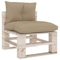 vidaXL Pagalvėlės sofai iš palečių, 2vnt., smėlio spalvos, audinys