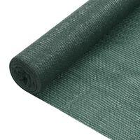 vidaXL Privatumo suteikiantis tinklelis, žalias, 1,5x10m, HDPE, 75g/m²