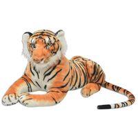vidaXL Žaislas tigras, pliušinis, rudas, XXL
