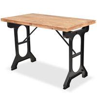 vidaXL Valgomojo stalas, eglės medienos stalviršis, 122x65x82 cm