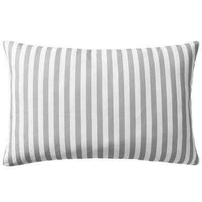 vidaXL Lauko pagalvės, 2 vnt., pilkos, 60x40 cm, dryžuotos