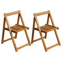 vidaXL Sulankstomos sodo kėdės, 2 vnt., akacijos mediena