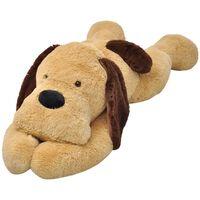 vidaXL Minkštas žaislinis šuo, pliušinis, rudas, 80 cm