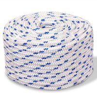 vidaXL Jūrinė virvė, balta, 250m, polipropilenas, 16mm