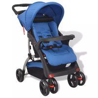 vidaXL Vaikiškas vežimėlis, mėlynas, 102x52x100 cm
