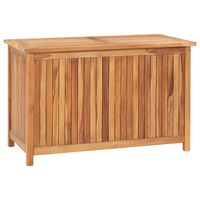 vidaXL Sodo daiktadėžė, 90x50x58cm, tikmedžio medienos masyvas