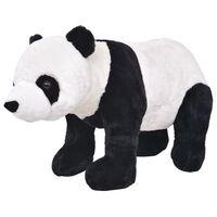 vidaXL Stovintis pliušinis žaislas panda, baltos ir juodos sp., XXL